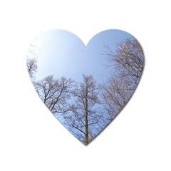Large Trees In Sky Magnet (heart) by yoursparklingshop