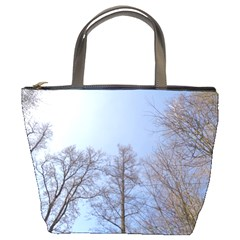 Large Trees In Sky Bucket Handbag