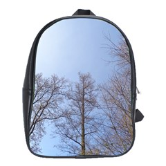 Large Trees In Sky School Bag (large)