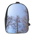 Large Trees in Sky School Bag (Large) Front
