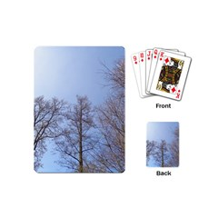 Large Trees In Sky Playing Cards (mini) by yoursparklingshop