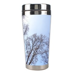 Large Trees In Sky Stainless Steel Travel Tumbler by yoursparklingshop