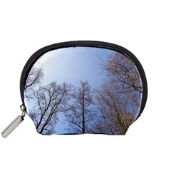 Large Trees In Sky Accessory Pouch (small)