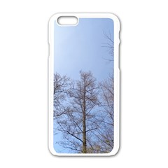 Large Trees In Sky Apple Iphone 6 White Enamel Case by yoursparklingshop