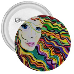 Inspirational Girl 3  Button by sjart