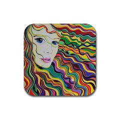 Inspirational Girl Drink Coaster (square) by sjart