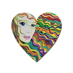 Inspirational Girl Magnet (heart) by sjart