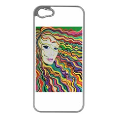 Inspirational Girl Apple Iphone 5 Case (silver) by sjart