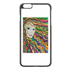 Inspirational Girl Apple Iphone 6 Plus Black Enamel Case by sjart