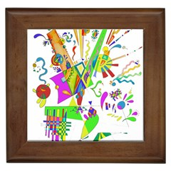Splatter Life Framed Ceramic Tile by sjart