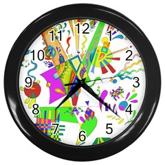 Splatter Life Wall Clock (black) by sjart