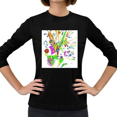 Splatter Life Women s Long Sleeve T Shirt (dark Colored)