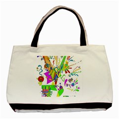 Splatter Life Twin Sided Black Tote Bag by sjart