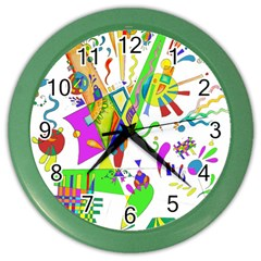 Splatter Life Wall Clock (color) by sjart