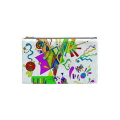 Splatter Life Cosmetic Bag (small) by sjart