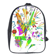 Splatter Life School Bag (large) by sjart