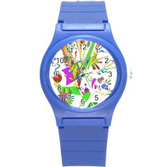 Splatter Life Plastic Sport Watch (small) by sjart