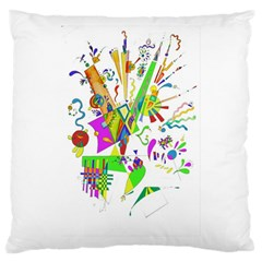Splatter Life Large Cushion Case (two Sided)  by sjart