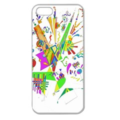 Splatter Life Apple Seamless Iphone 5 Case (clear) by sjart