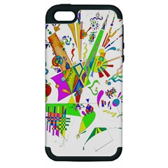 Splatter Life Apple Iphone 5 Hardshell Case (pc+silicone) by sjart