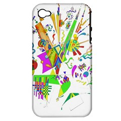 Splatter Life Apple Iphone 4/4s Hardshell Case (pc+silicone) by sjart