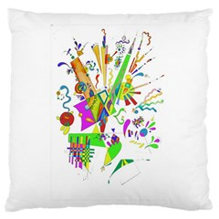 Splatter Life Large Flano Cushion Case (two Sides) by sjart