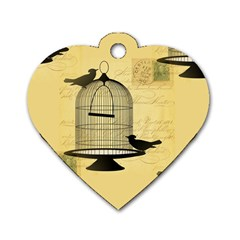 Victorian Birdcage Dog Tag Heart (one Sided)