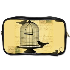 Victorian Birdcage Travel Toiletry Bag (two Sides)