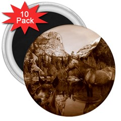 Native American 3  Button Magnet (10 Pack)