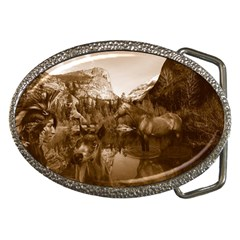 Native American Belt Buckle (oval)
