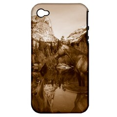Native American Apple Iphone 4/4s Hardshell Case (pc+silicone) by boho