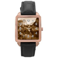 Native American Rose Gold Leather Watch  by boho