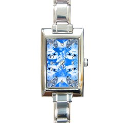 Skydivers Rectangular Italian Charm Watch by icarusismartdesigns