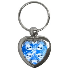 Skydivers Key Chain (heart) by icarusismartdesigns
