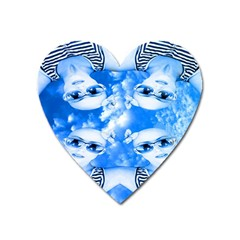Skydivers Magnet (heart) by icarusismartdesigns