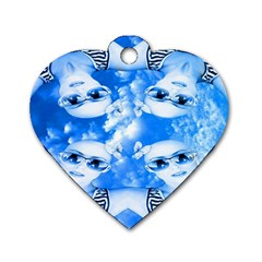 Skydivers Dog Tag Heart (one Sided)