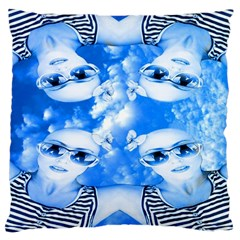 Skydivers Large Cushion Case (two Sided)  by icarusismartdesigns