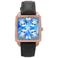 Skydivers Rose Gold Leather Watch  by icarusismartdesigns