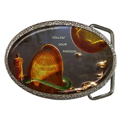 Follow Your Passion Belt Buckle (oval) by lucia