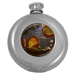 Follow Your Passion Hip Flask (round) by lucia