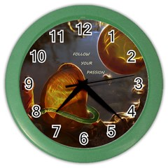 Follow Your Passion Wall Clock (color)