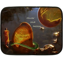 Follow Your Passion Mini Fleece Blanket (two Sided) by lucia