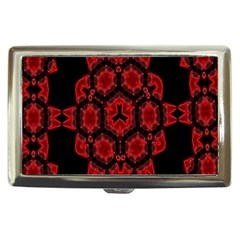 Red Alaun Crystal Mandala Cigarette Money Case by lucia