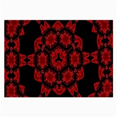 Red Alaun Crystal Mandala Glasses Cloth (large, Two Sided)