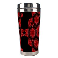 Red Alaun Crystal Mandala Stainless Steel Travel Tumbler by lucia