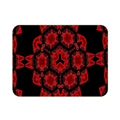 Red Alaun Crystal Mandala Double Sided Flano Blanket (mini) by lucia