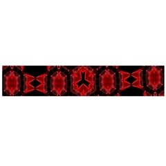 Red Alaun Crystal Mandala Flano Scarf (large) by lucia
