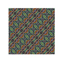 Colorful Tribal Geometric Print Small Satin Scarf (square)