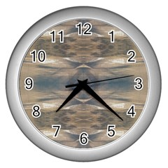 Wildlife Wild Animal Skin Art Brown Black Wall Clock (silver) by yoursparklingshop