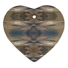 Wildlife Wild Animal Skin Art Brown Black Heart Ornament (two Sides) by yoursparklingshop